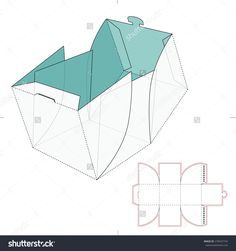 Cube Box With Die Cut Template Stock Vector Illustration 270437744 ...
