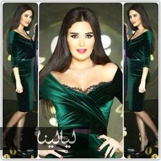 Cyrine abdelnour green velvet dress Evening Dresses With Sleeves, Evening Gowns, Party Gowns, Party Dress, Emerald Green Velvet Dress, Beautiful Muslim Women, Prom 2016, Arab Women, Prom Dresses