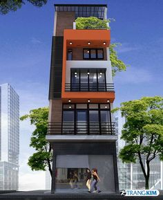 Narrow House Designs, Modern Small House Design, Townhouse Designs, Duplex House Design, House Outside Design, House Front Design, Home Building Design, Facade Architecture, Facade House