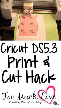 cricut print and cut hack
