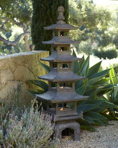 """""""Pagoda"""" Outdoor Sculpture at Horchow."""