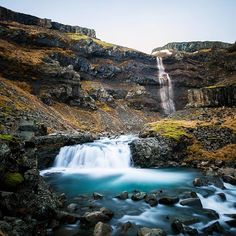 Some of the hidden secrets in Iceland require a little imagination to find. A trickle of water in the distance led me to the start of an unmarked trail. A short five minute walk up the trail in to a small valley led me to this beautiful waterfall!