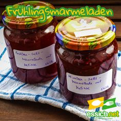 Frühlingsmarmeladen Salsa, Jar, Food, Marmalade, Lemon Balm, Raspberries, Essen, Food Recipes, Meal