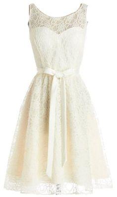 Wedding House,Spitze Schaufel Ballkleid kurzes Kleid Party-Kleid mit Sch?rpe,PP347: Amazon.de: Bekleidung