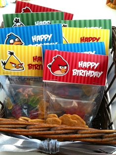 Angry Birds Party Favor--with free printable