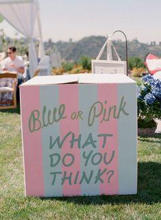 Gender reveal baby shower balloon box // baby