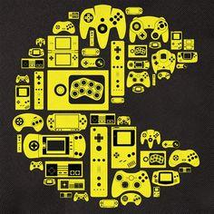 Pacman sastavljen od konzola.