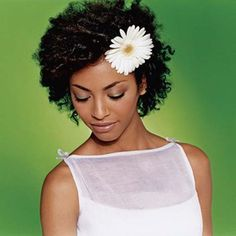 Natural Hair with Flower