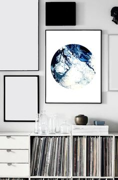 Waves I Print Paint Acrylic Abstract Fluid by ChasedDesigns