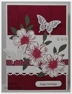 Flower Shop ; Papillon potpourri ; Teeny tiny wishes ; Word window punch ; Scallop ribbon trim border punch