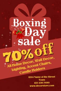 Boxing Day Retail Flyer Template Click To Customize  Boxing Day