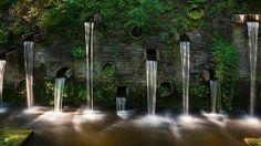 Fountains in the park Planten un Blomen, Hamburg, Germany (Andreas Rose/Corbis)