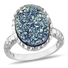 Sterling Silver Blue Color Druzy Fashion Ring Delmar UK http://www.amazon.co.uk/dp/B00B0ZY3NO/ref=cm_sw_r_pi_dp_kjFJub01KSTC7