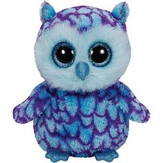 TY Beanie Boo Plush - Oscar the Owl Beanie Boos are They are made from Ty's best selling fabric - Ty Silk, and are created with fantastic custom eyes. Ty Beanie Boos, Beanie Babies, Ty Babies, Beanie Hats, Ty Stuffed Animals, Plush Animals, Ty Peluche, Boo And Buddy, Ty Toys