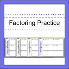 This set of problems will provide your students with the practice they need factoring trinomial expressions. High School Subjects, Standard Form, School Grades, Algebra 1, School Resources, Teaching Tools, Middle School, Madness, Students