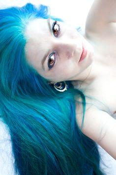 hair dye Blue Hair - Jessica Ludwick Panic Voodoo Blue and Rockabilly Blue hair dye. Blue Hair - Jessica Ludwick Panic Voodoo Blue and Rockabilly Blue hair dye. Dyed Hair Blue, Dye My Hair, Hair Colour For Green Eyes, Hair Colors, Turquoise Hair Color, Voodoo Blue, Neon Hair, Aqua Hair, Coloured Hair