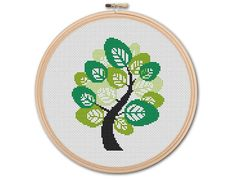 Spring tree , Counted Cross stitch, Pattern PDF, Cross Stitch Chart , Cute Cross Stitch, Cross stitch pattern, pixel art, 0205