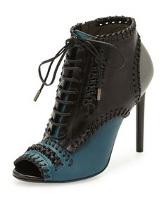 Lace-Up Whipstitch Ankle Boot by Jason Wu at Neiman Marcus Last Call.