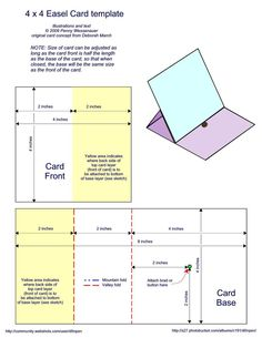 Easel Card Template. This could come in handy for displays.