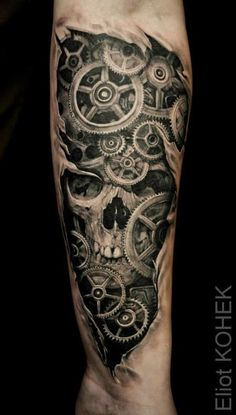 48 Best Gear Tattoo Images In 2018 Body Art Tattoos New Tattoos