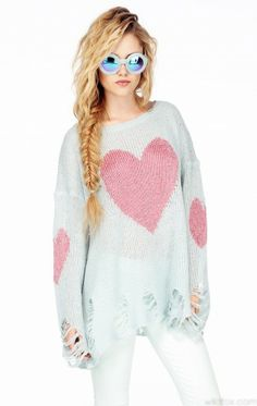 Wildfox Couture Heart Lenon Sweater. Cute!