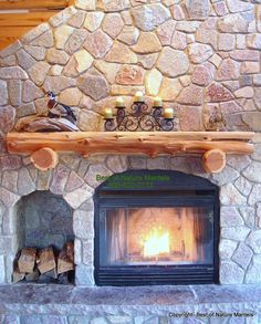 Love this idea for a fireplace/mantle with a place to store extra wood! Description from pinterest.com. I searched for this on bing.com/images