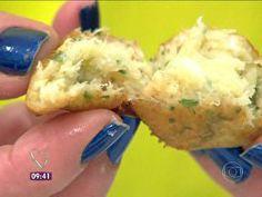 Bolinho de bacalhau sem erro - Foto de Mais Você na TV