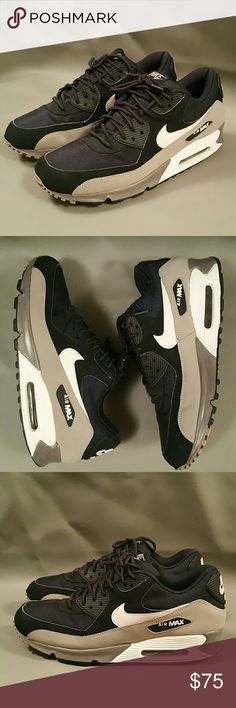 online store a045b 1051e Men s NIKE AIRMAX 90 ESSENTIAL Sneakers US 9.5 -BLUE  WHITE  GREY  -537384-410 -2012 -Rare Find Nike Shoes Sneakers