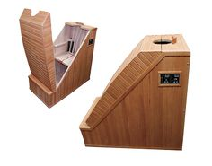 If space is your concern, then check our great sauna item which will grant you a peaceful refuge in such a compact size. After a long day, a gentle dry heat environment will sooth, relax and refresh your body. Saunas, Mini Sauna, Piscina Spa, Massage Room Decor, Steam Box, Ayurvedic Therapy, Steam Sauna, Outdoor Bathrooms, Spa Massage