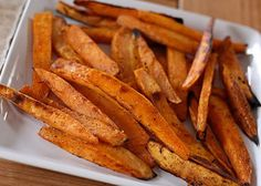 Sweet Potato Fries  Ingredients :    -  2 large sweet potatoes  -  olive oil  -  fresh rosemary  -  salt and pepper