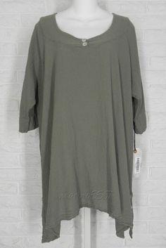 OH MY GAUZE Marcy Tunic Shirt Long Sides Stone NWT Sz 2 Large XLarge #OhMyGauze #Tunic #Casual