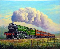 Flying Scotsman, locomotive, train, vintage