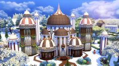 """Today I went insane for Irrelephant Sims' IrreleXmas build challenge by building a gingerbread """"house!"""" I also talk about my christmas breakfast disasters an. Sims Building, Going Insane, Sims 4, Gingerbread, Palace, Taj Mahal, Gallery, Christmas, Xmas"""