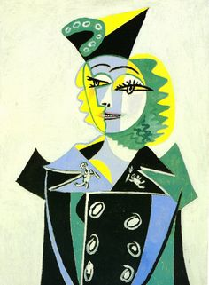 Woman by the window, 1936 by Pablo Picasso, Neoclassicist & Surrealist Period. Surrealism. portrait