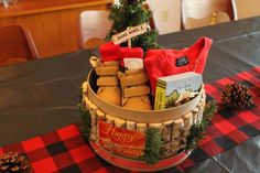 Fun centerpieces at a mountain man lumberjack birthday party! See more party ideas at CatchMyParty.com!