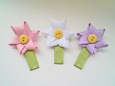 more cute flower clips