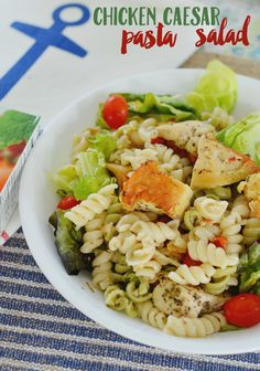 Create this simple chicken caesar pasta salad recipe with Suddenly Salad pasta salad mix and fresh vegetables. Top with sautéed chicken!