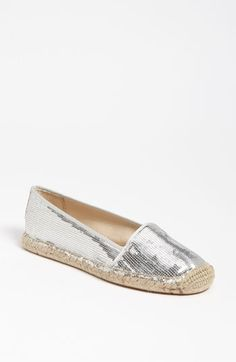 Planned to buy it but they were sold out at Nordstrom. :( Maybe I should order online... Anyone who has it? Reviews?  Franco Sarto 'Whip' Flat (Silver Sequin)