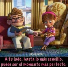 A tu lado Love You Hubby, My Only Love, Love Images, Love Pictures, Funny Pictures, Good Day Quotes, Love Quotes, Up Carl Y Ellie, Hello Kitty Iphone Wallpaper