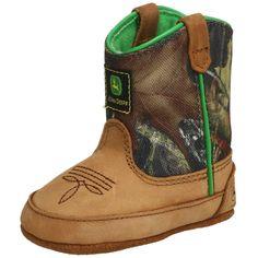 John Deere Baby Camo Boots! http://www.squidoo.com/camo-baby-stuff Way too cute for words! #ppgcamobaby
