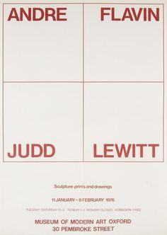 Andre, Flavin, Judd, Lewitt, Exhibition Poster, 1976