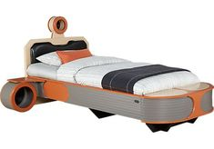 Star Wars Landspeeder™ Orange 5 Pc Twin Panel Bed with Engine Storage Night Tables x x Find affordable Twin Bedroom Sets for your home that will complement the rest of your furniture. Kids Room Furniture, Bedroom Furniture Stores, Bed Furniture, Orange Furniture, Furniture Storage, Furniture Online, Build A Murphy Bed, Murphy Bed Plans, Murphy Beds