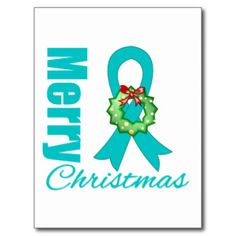 Ovarian Cancer Christmas Wreath Cards, Ovarian Cancer Christmas ...