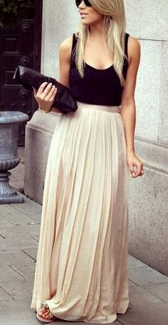 Lauren Conrad Chiffon Pleated Maxi Skirt