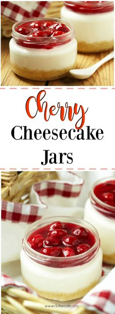 Easy, delicious, portable, no-bake cherry cheesecake jars for your perfect picnic!