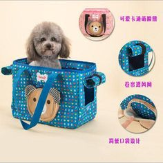 New Design Dog Carrier Bags Striped Canvas Sling Bag Pet Carrier For Dog/Cat Travel Bag Pink/Blue Pet Supplies Hot Fashion Style