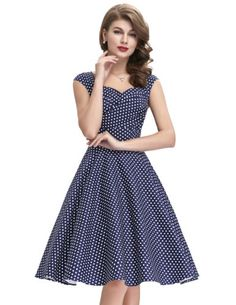 Damen-Swing-Pinup-dress-50er-Jahre-Party-Cocktail-Abschlussball-Brautjun-Kleid