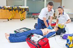 Paramedic students in the Simulation Suites, Wikitoria Katene, at the Porirua campus.