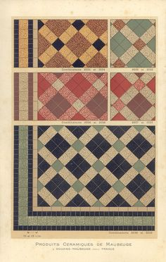 french tile patterns from old catalogue Floor Patterns, Tile Patterns, Textures Patterns, Print Patterns, Floor Design, Tile Design, Porch Interior, Paver Blocks, Paving Design