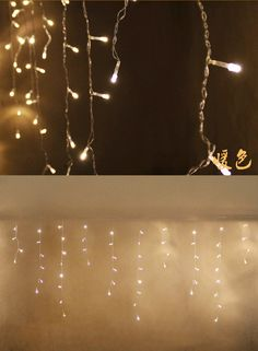 Wholesale- Christmas Outdoor Decoration Indoor 3.5m 96led Droop 0.4-0.6m Curtain Icicle Led String Lights New Year Garden Party EU 220V